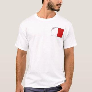Drapeau de Malte et T-shirt de carte