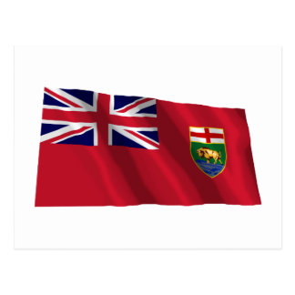 Drapeau de Manitoba, Canada Carte Postale