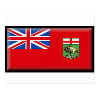 Drapeau de Manitoba Carte Postale