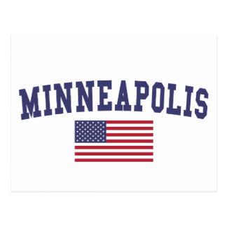 Drapeau de Minneapolis USA Carte Postale