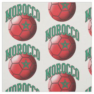 Drapeau de motif marocain de ballon de football du tissu