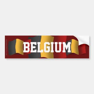 Drapeau de ondulation de la Belgique Autocollant De Voiture