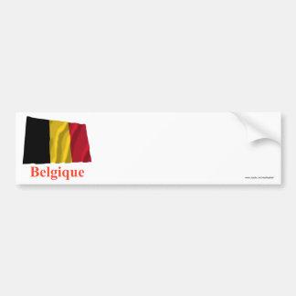 Drapeau de ondulation de la Belgique avec le nom e Adhésifs Pour Voiture