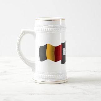 Drapeau de ondulation de la Belgique Chope À Bière