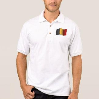 Drapeau de ondulation de la Belgique Polo