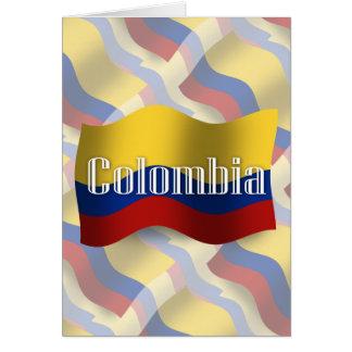 Drapeau de ondulation de la Colombie Carte