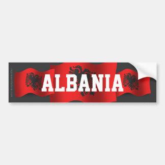 Drapeau de ondulation de l'Albanie Autocollant De Voiture