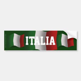 Drapeau de ondulation de l'Italie Autocollant De Voiture