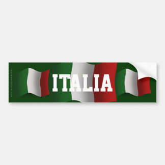 Drapeau de ondulation de l'Italie Autocollants Pour Voiture