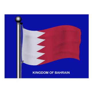 Drapeau de ondulation du Bahrain Carte Postale