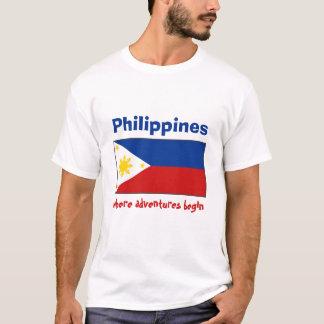 Drapeau de Philippines + Carte + T-shirt des