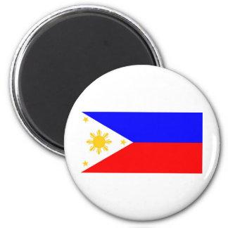 Drapeau de Philippines Magnet Rond 8 Cm