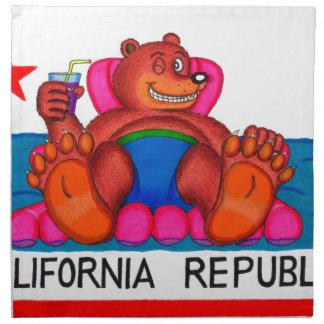 Drapeau de pieds d'ours de la Californie Serviettes En Tissus