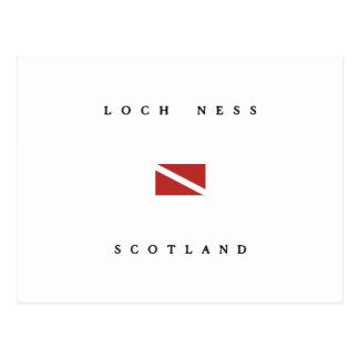 Drapeau de piqué de scaphandre de Loch Ness Ecosse Carte Postale