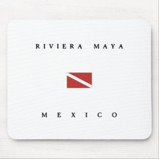 Drapeau de piqué de scaphandre du Mexique de Maya Tapis De Souris