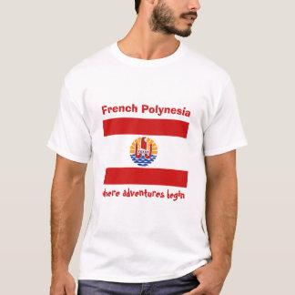 Drapeau de Polynésie française + Carte + T-shirt