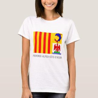 Drapeau de Provence-Alpes-Côte d'Azur avec le nom T-shirt