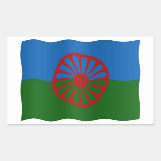 Drapeau de Roma Sticker Rectangulaire