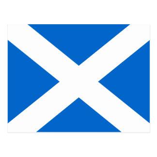 Drapeau de Saltire d'écossais de carte postale de