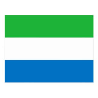 Drapeau de Sierra Leone Carte Postale