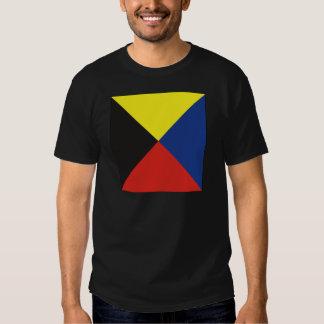 Drapeau de signal du zoulou (z) t shirt
