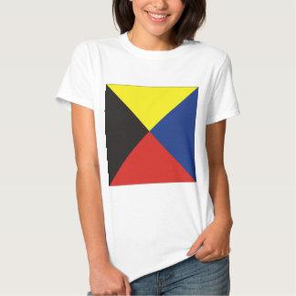 Drapeau de signal du zoulou (z) tee shirt
