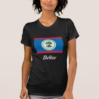 Drapeau de T-shirt d'obscurité de dames de Belize