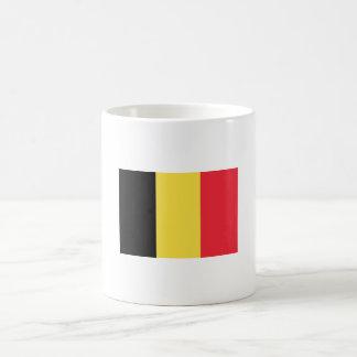 Drapeau de tasse de la Belgique