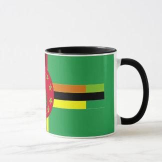 Drapeau de tasse du Bénin et de la Dominique