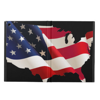 Drapeau de vague des Etats-Unis Étui iPad Air