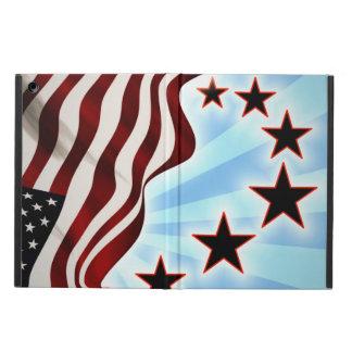 Drapeau de vague d'étoiles des Etats-Unis Protection iPad Air