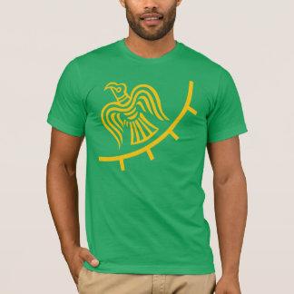 Drapeau de Viking sur la chemise verte T-shirt