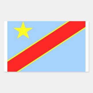 Drapeau Democratic du Congo Autocollants En Rectangle
