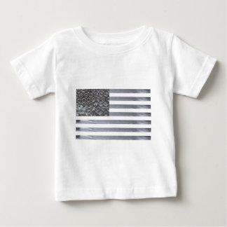 Drapeau d'enveloppe et de ruban adhésif de bulle t-shirt pour bébé