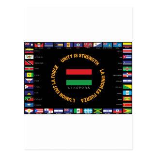 Drapeau des Caraïbes officiel d'unité Carte Postale
