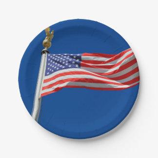 Drapeau des Etats-Unis Assiettes En Papier