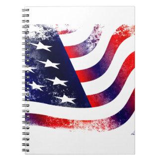Drapeau des Etats-Unis Carnets À Spirale