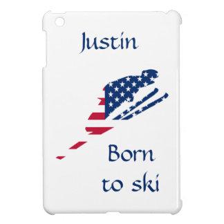 Drapeau des Etats-Unis d'Américain de ski de Étuis iPad Mini