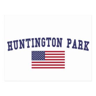 Drapeau des USA de parc de Huntington Carte Postale