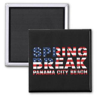 Drapeau des USA de plage de Panamá City de coupure Aimant