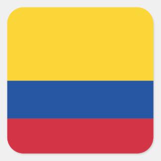 Drapeau d'étiquette de la Colombie Sticker Carré
