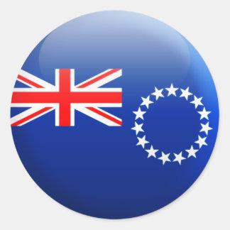 Drapeau d'îles Cook Sticker Rond