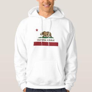 Drapeau d'ours de République de la Californie Veste À Capuche