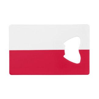 Drapeau d'ouvreur de bouteille de carte de crédit