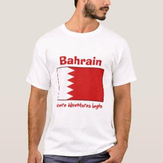 Drapeau du Bahrain + Carte + T-shirt des textes