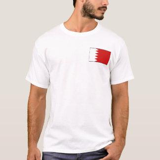 Drapeau du Bahrain et T-shirt de carte