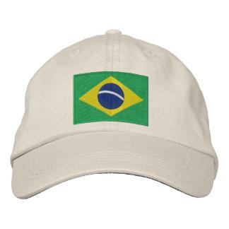 Drapeau du Brésil en vert jaune et bleu Casquettes De Baseball Brodées