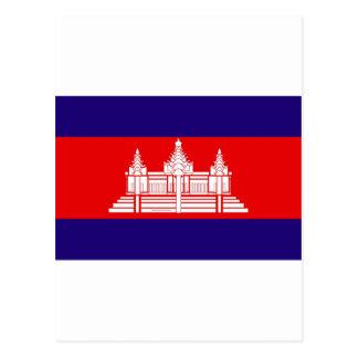 Drapeau du Cambodge Carte Postale