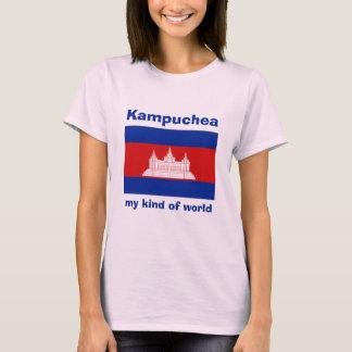 Drapeau du Cambodge + Carte + T-shirt des textes