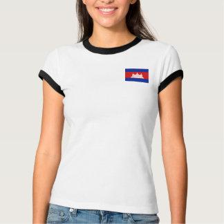 Drapeau du Cambodge + T-shirt de carte